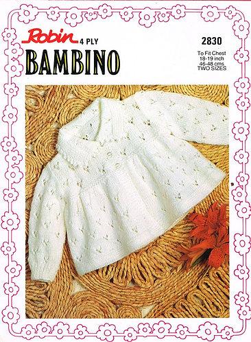 2830R baby matinee coat vintage knitting pattern  PDF Download