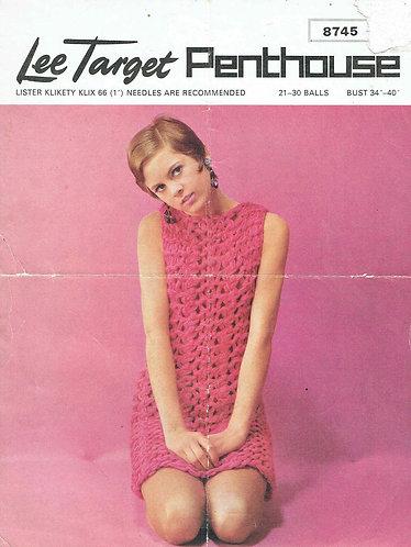 8745Lt ladies dress vintage knitting pattern  PDF Download