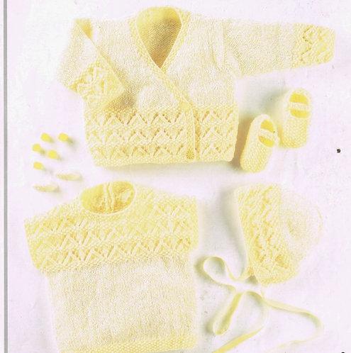 923J baby cardigan vintage knitting pattern  PDF Download