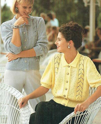 9063S Ladies vintage knitting pattern PDF