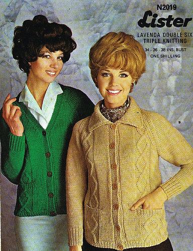 2019Li Ladies vintage knitting pattern