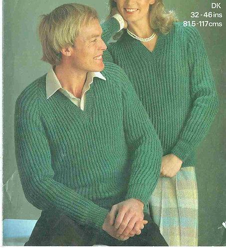 1872 ladies mens jumper Vintage knitting pattern  PDF Download