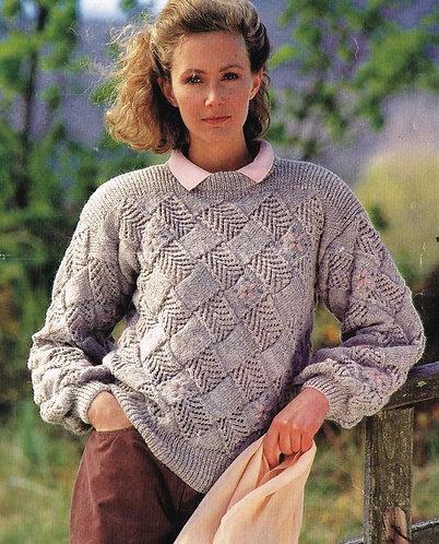3618W ladies vintage knitting pattern PDF