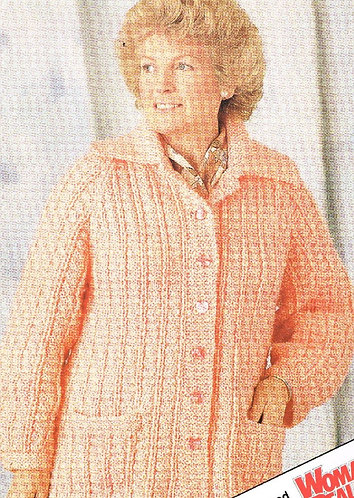 8991L ladies chunky cardigan vintage knitting pattern  PDF Download