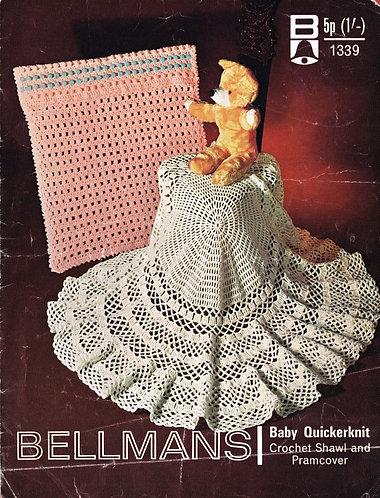 1339Bell baby vintage crochet pattern PDF