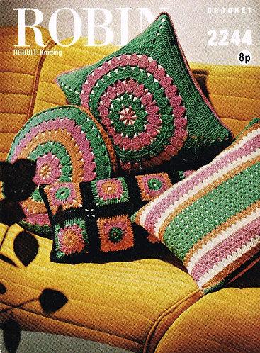 2244R cushion covers vintage crochet pattern  PDF Download