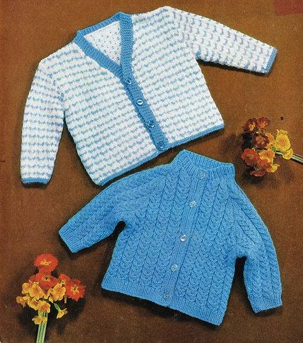 1262M baby matinee coat vintage knitting pattern  PDF Download