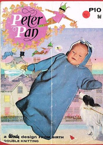 10PP baby sleeping bag vintage knitting pattern  PDF Download