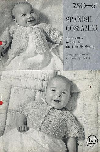 250P baby matinee coats vintage knitting pattern  PDF Download