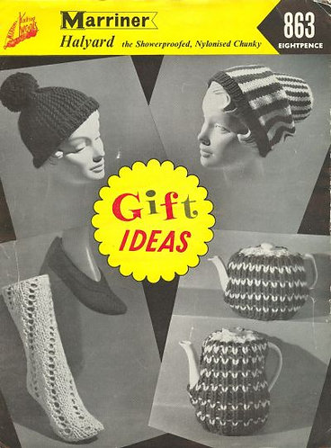 863  gifts to knit Vintage knitting pattern  PDF Download