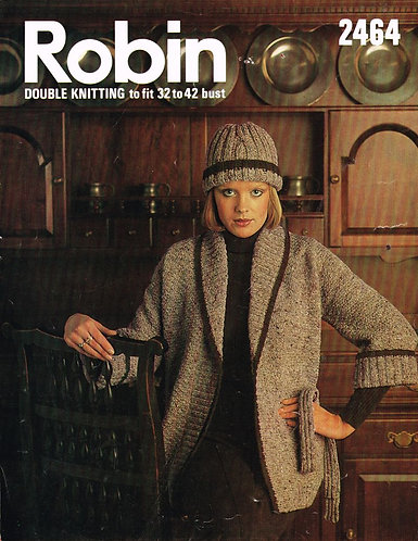 2464R ladies cardigan set vintage knitting pattern  PDF Download