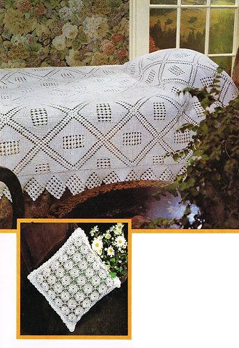 6419Tw bedspread vintage crochet pattern PDF