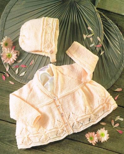 4361H baby matinee coat vintage knitting pattern  PDF Download