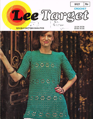 9127Lt ladies tunic dress vintage crochet pattern  PDF Download