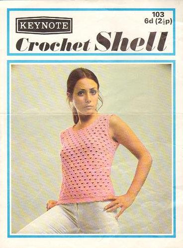103K ladies summer top vintage crochet pattern  PDF Download