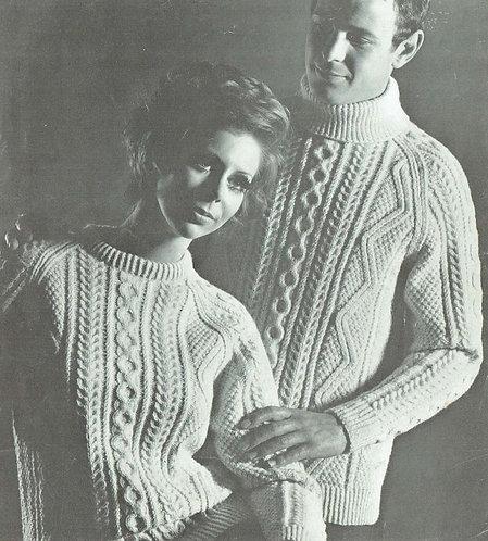 635Ar ladides mens vintage knitting pattern PDF