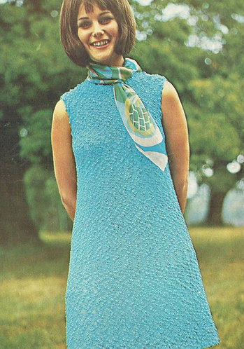 5872T ladies dress vintage knitting pattern  PDF Download