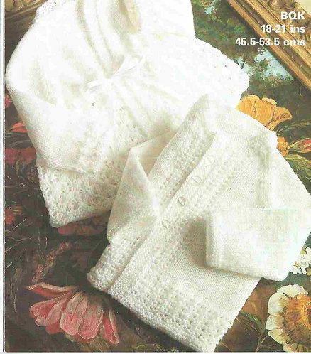 1932M baby matinee coat vintage knitting pattern  PDF Download