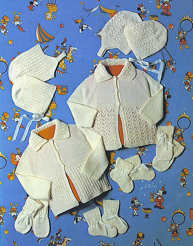 Aotea 7590 baby vintage knitting pattern PDF