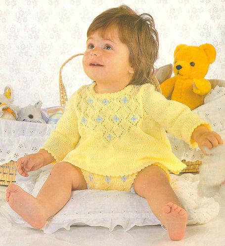 355Ar baby vintage knitting pattern PDF