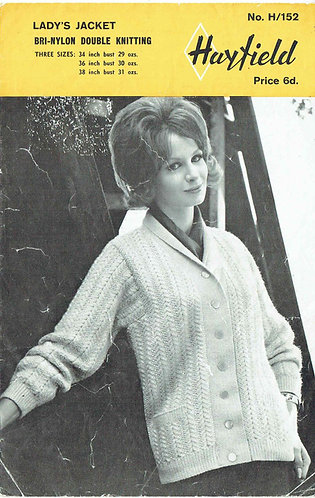 152H ladies cardigan Vintage knitting pattern PDF Download