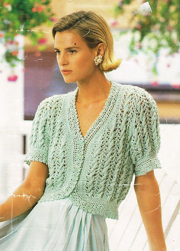 9317S Ladies vintage knitting pattern PDF