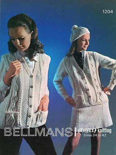 1204Bell ladies vintage knitting pattern PDF