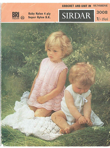 3008S baby shawl vintage crochet pattern PDF
