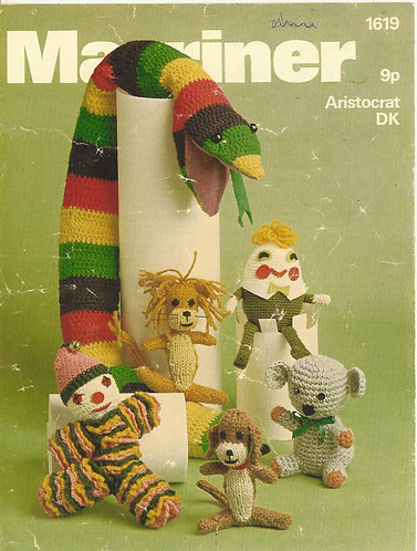 1619M toy vintage crochet and knitting pattern  PDF Download