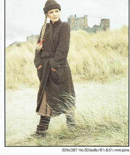 1932H ladies chunky coat Vintage knititng pattern  PDF Download