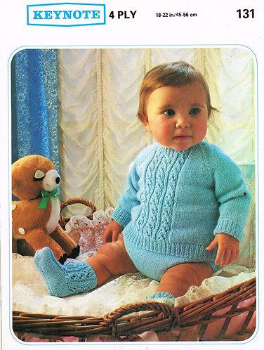 131K baby jumper suit vintage knitting pattern PDF Download