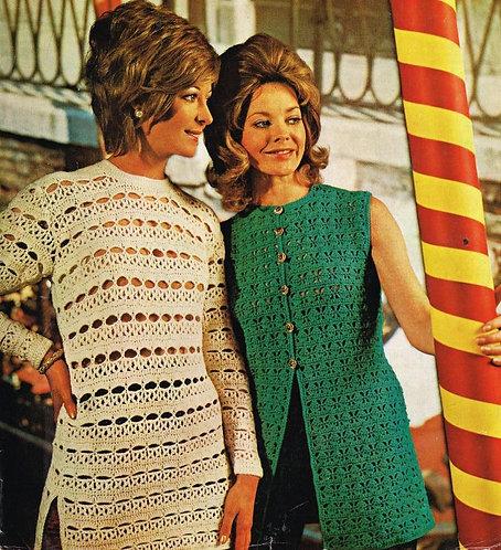 683Ar ladies vintage crochet pattern PDF