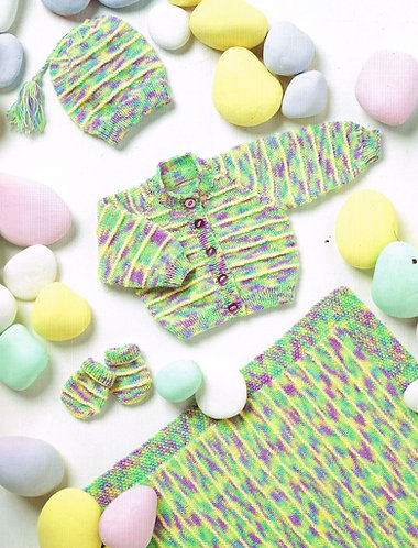 8025St baby vintage knitting pattern PDF