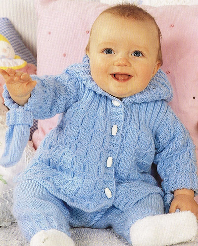7178Ted baby vintage knitting pattern PDF