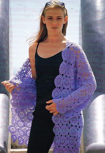2209 ladies wrap crochet pattern PDF