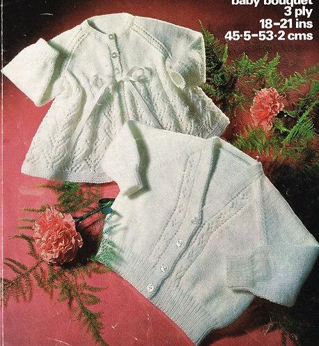 1612M baby matinee coat vintage knitting pattern  PDF Download