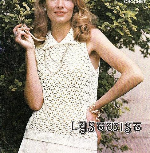 6114T ladies summer top vintage crochet pattern  PDF Download
