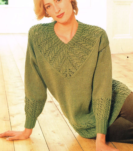 4113W ladies vintage knitting pattern PDF
