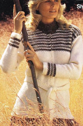 5784S ladies vintage knitting pattern PDF