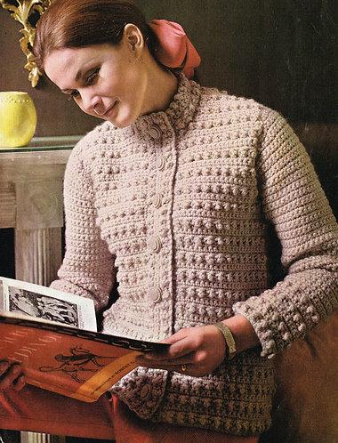 9971P ladies vintage crochet pattern PDF