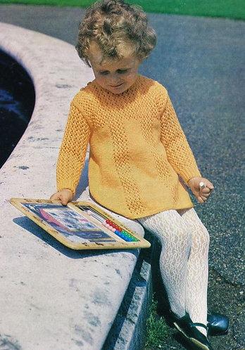 321BK baby vintage knitting pattern PDF