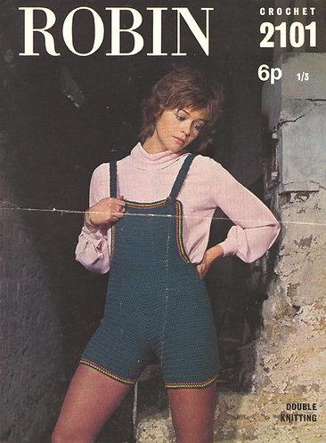 2101R ladies hot pants vintage crochet pattern  PDF Download
