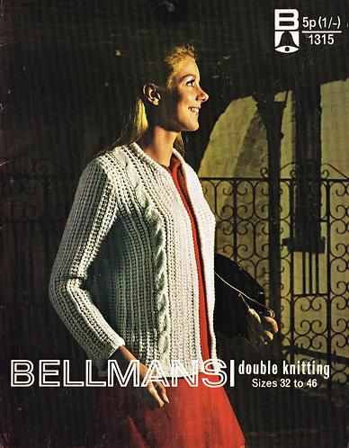 1315Bell Ladies vintage knitting pattern PDF