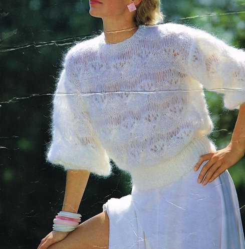 4095 ladies jumper vintage knitting pattern PDF