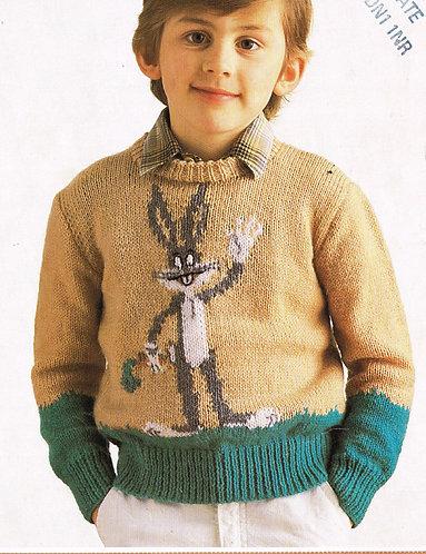 2826E children vintage knitting pattern PDF