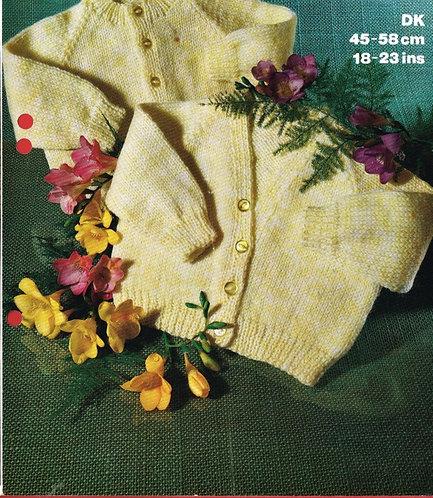 1746M baby cardigan vintage knitting pattern  PDF Download