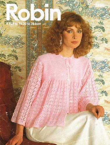 2804R ladies bedjacket vintage knitting pattern PDF Download