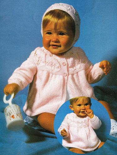 3376S baby vintage knitting pattern PDF