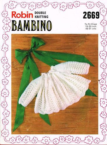 2669R baby matinee coats vintage knitting pattern  PDF Download