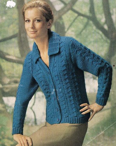 2530S Ladies vintage knitting pattern PDF